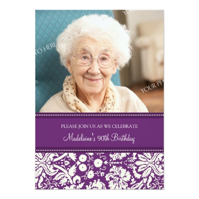 1292 best 90th birthday invitations images on pinterest | 90th, Birthday invitations