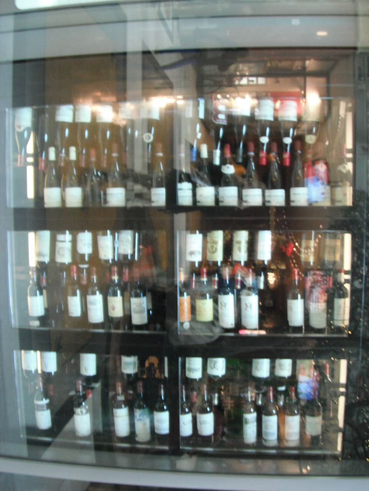 Different types of wines featured in a mall display window #NiagaraFalls #WineCountry