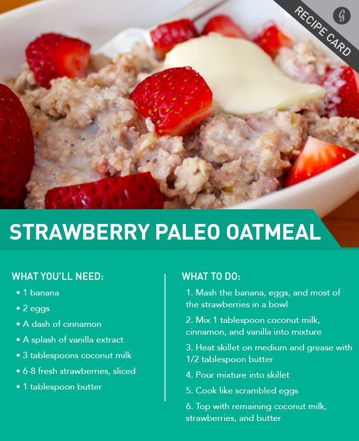 perfect, I eat oatmeal at least 5 days a week.... Recipe: Strawberries and Cream Paleo Oatmeal