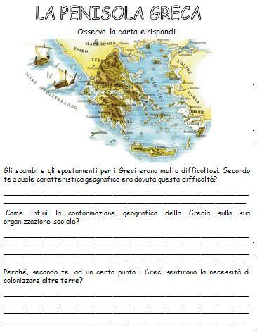 La Penisola Greca - Storia classe IV/ V