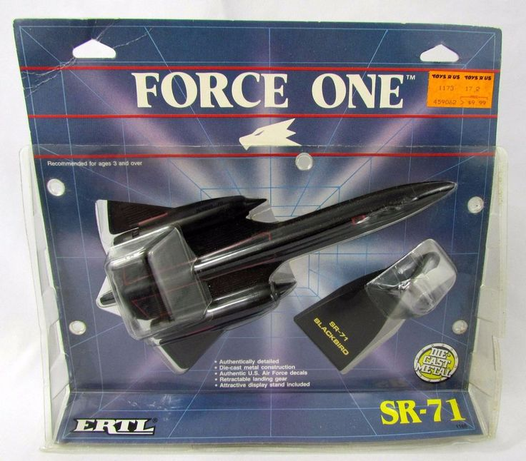 1988 ERTL FORCE ONE SR-71 BLACKBIRD Jet Airplane USAF Diecast NEW Sealed NIP #Ertl #Lockheed