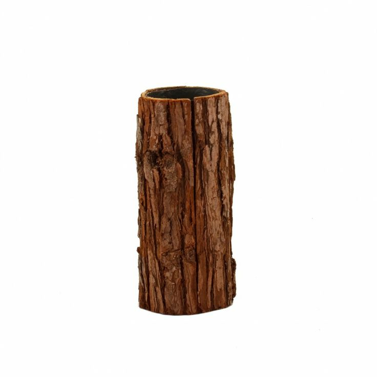 Natural wood bark vases 10 x 4 wood natural bark for Wood vases for centerpieces