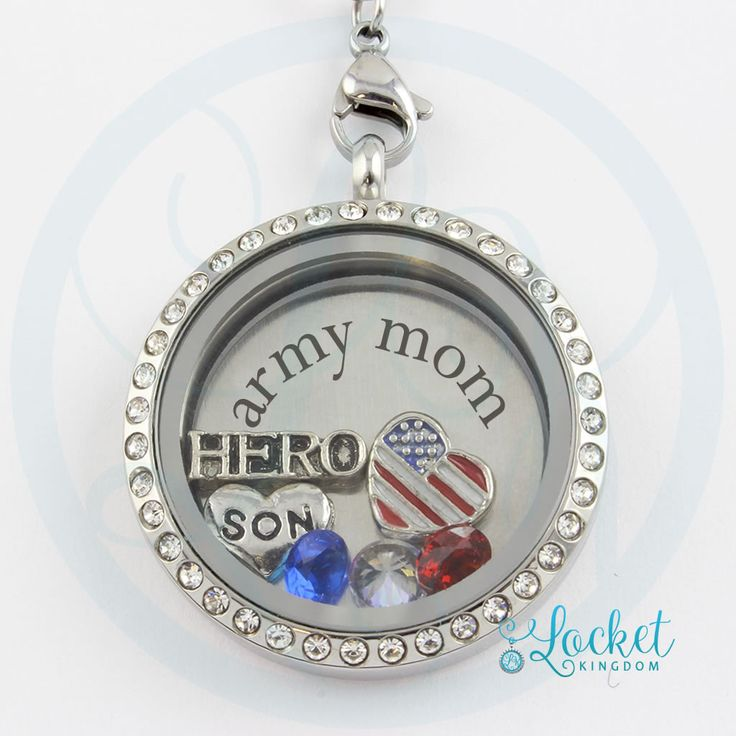 Perfect Locket for Army Moms! Not Sold in Stores!! Get 70% OFF + FREE Shipping Today! Material: Stainless Steel Locket and Chain. Locket Size: 30 mm Chain Size: 30 Inch **All Charms In Picture Include