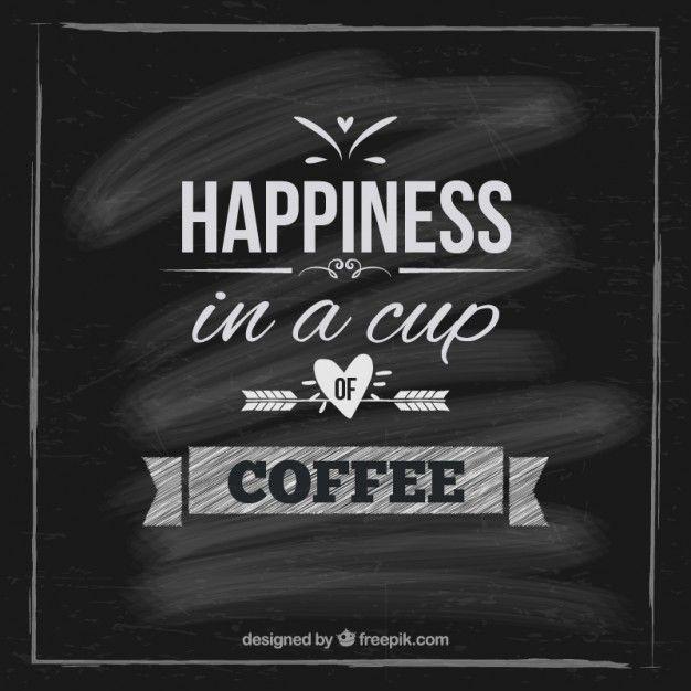 Cartão do café no quadro-negro