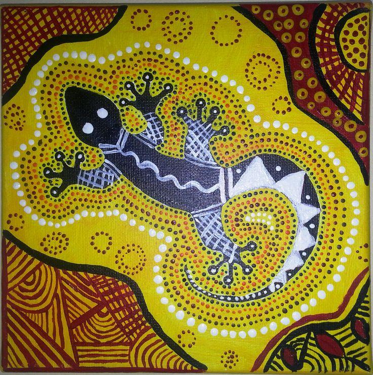Pix For > Aboriginal Art Lizard