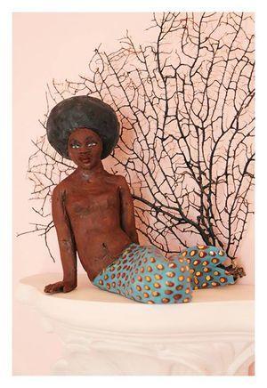 Maureen Visage   'Afro Mermaid'   Glazed Earthenware