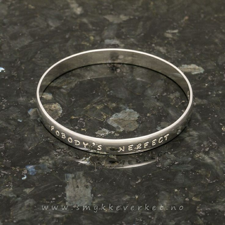 Sterling bangle, texted with wisdom