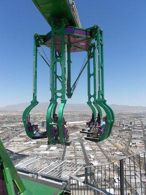Um dos brinquedinhos básicos que tem no topo do Hotel Cassino Estratosfera em Las Vegas