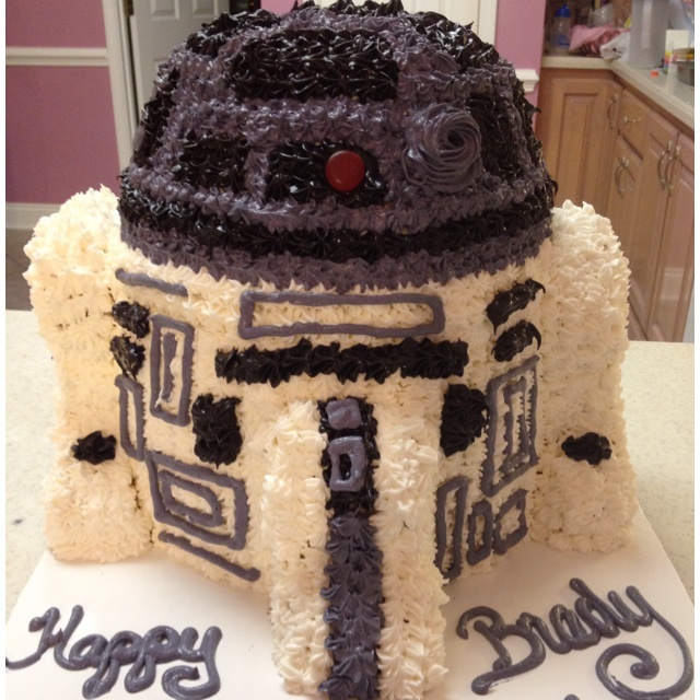 R2D2 for my son's 9th birthday! He LOVED it:-): 9Th Birthday, Pretty Cakes, R2D2 Birthday, My Son, Birthday Cakes