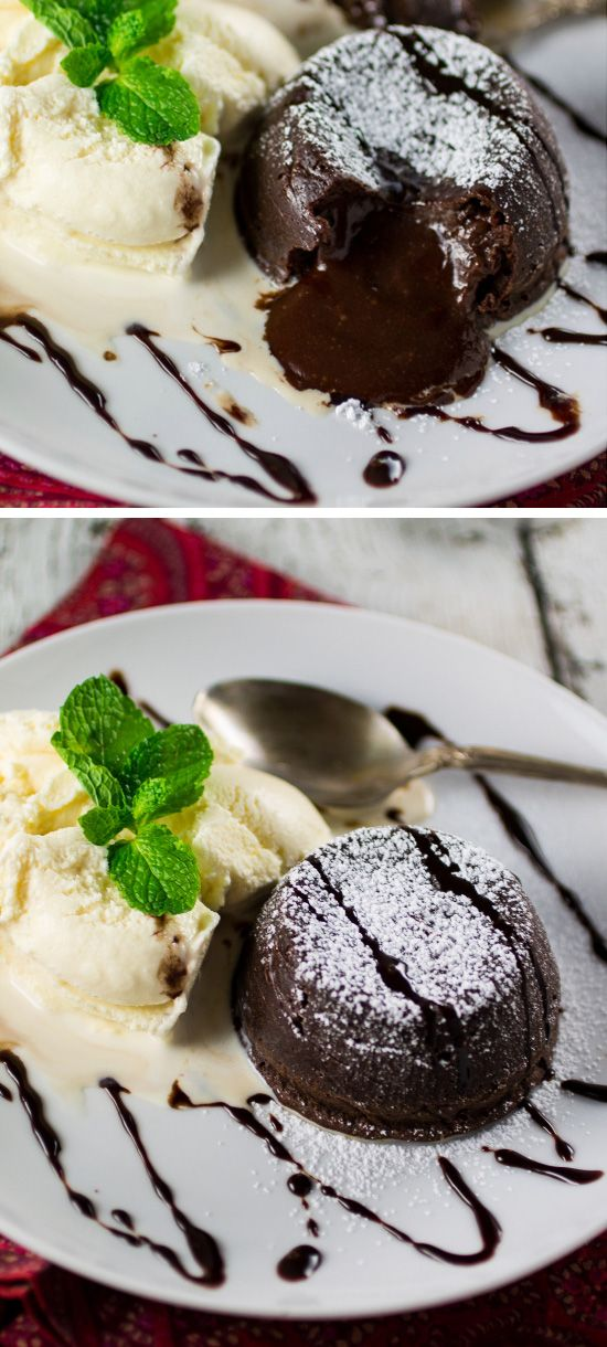 Chocolate Petit Gateau | Click Pic for 20 Easy Valentine Desserts for Two | Easy Romantic Dessert Recipes for Valentines