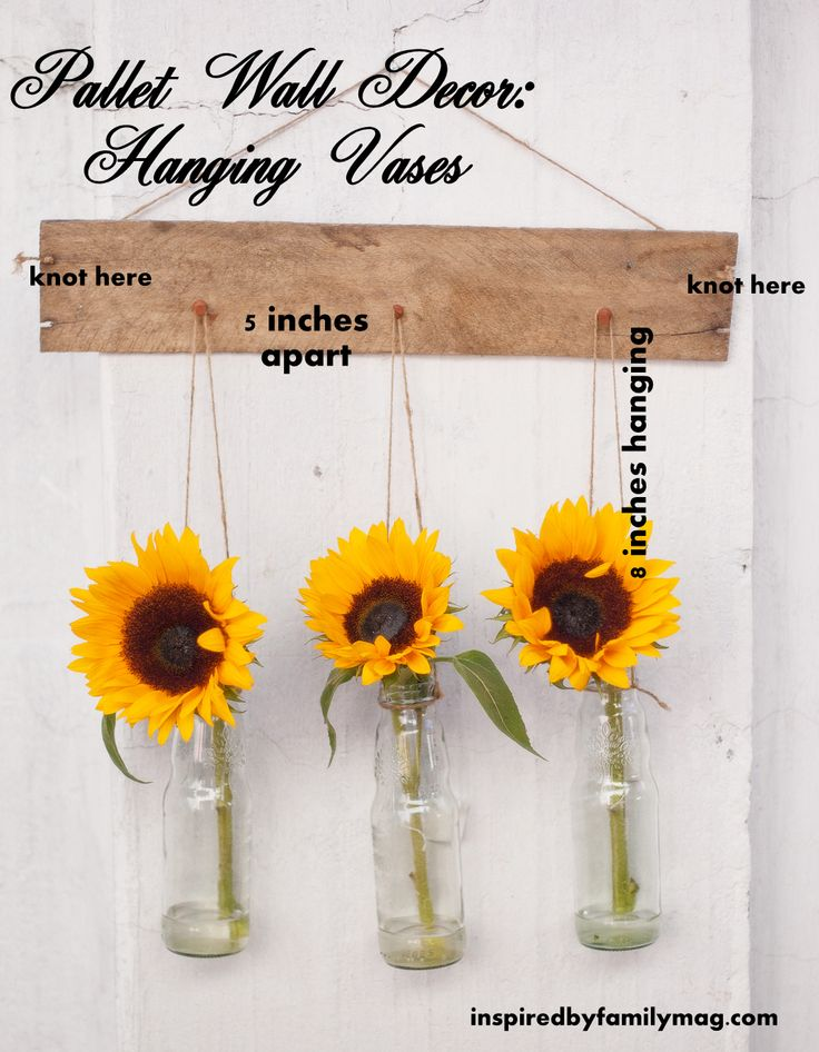 Pallet Wall Decor How-to. Sometimes the most simple of crafts packs the biggest punch