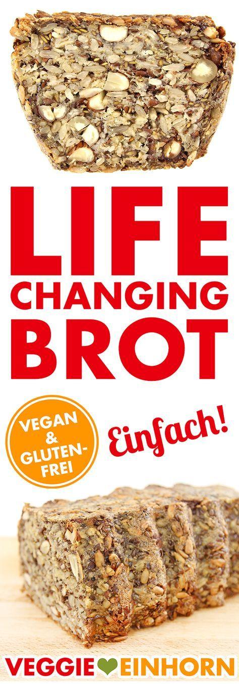 Gesundes Brot selber backen! Mit VIDEO! Bestes Rezept für Life Changing Brot ohne Mehl aus Samen und Nüssen | vegan & glutenfrei