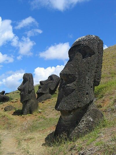 Easter Island. Between the 14th and 19th centuries. Rapa Nui, Pacific Ocean. First settled by Polynesian seafarers (the Rapanui) about AD 700. They flourished in a lush enviroment with dense forests and plentiful food, both on land and in the surrounding seas. At its peak, the complex, sophisticated culture is thought to have had a population in excess of 10,000. When Dutch explorer Jacob Roggeveen visited the island in 1722, most of the culture had dissapeared and the population  had…