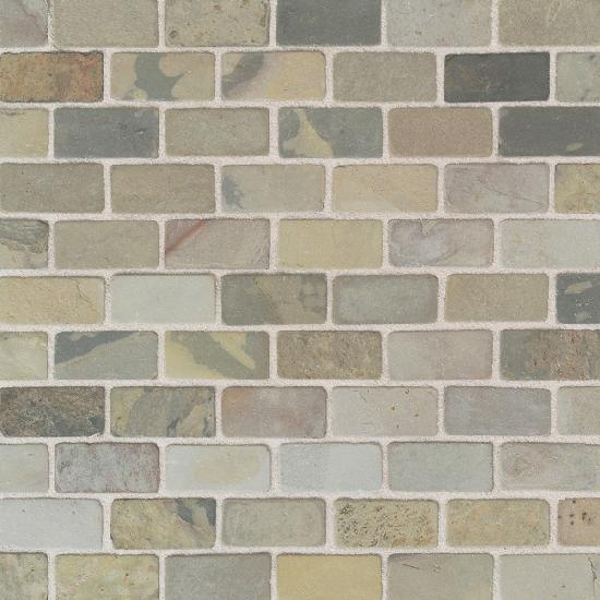 India Autumn Brick Joint - Tumbled Slate by American Olean