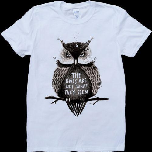 Tribute to Twin Peaks series Owls Tshirt T shirt | eBay