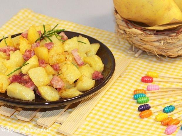 Cubetti di Patate e Pancetta al forno