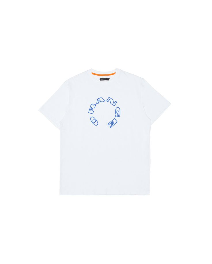 "Made of cotton jersey, this t-shirt features ""Orange"" artwork printed on front."