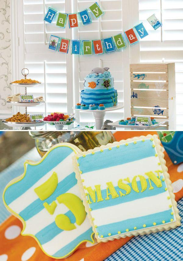 Bright & Bubbly Sea Creature Birthday Party