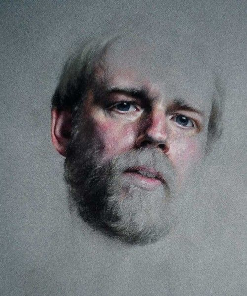 Charles Pfahl - Pastel Self Portrait 3