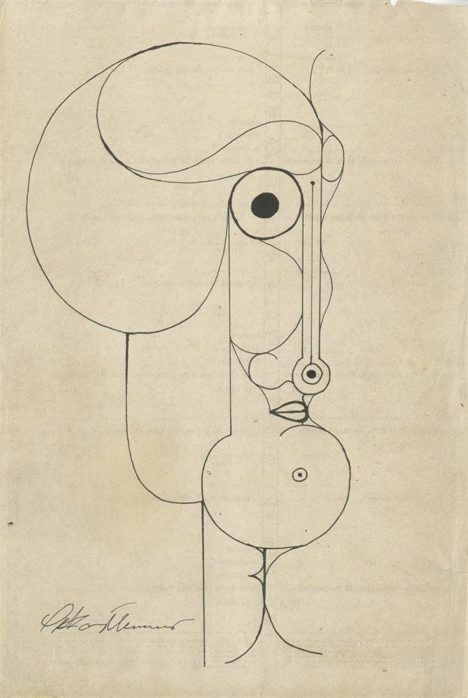 Oskar Schlemmer - Pen and ink drawing