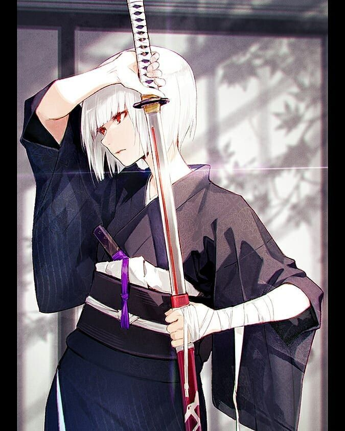 army exo l carat on instagram anime animegirl sword katana manga art fanart digitalart samurai 女性 イラスト 剣士 イラスト 剣士