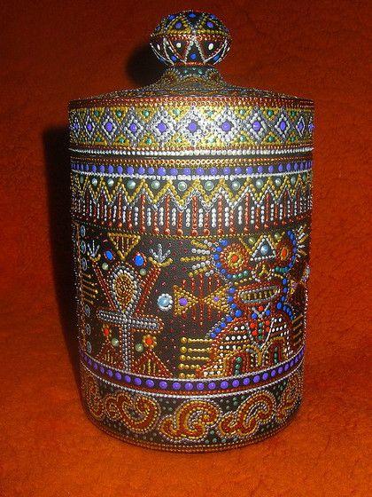 Купить Хранитель Чая - точечная роспись, Роспись по дереву, роспись контурами, чайная коробка