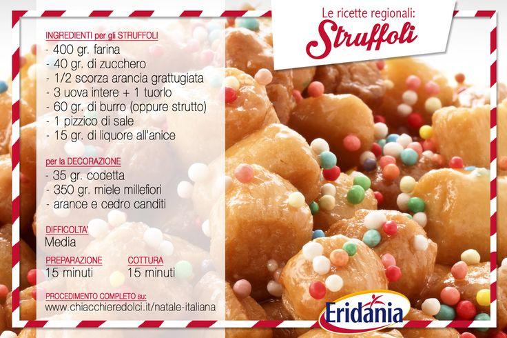 La #ricetta vincitrice per il #Natale in #Campania: gli #struffoli! Grazie ai nostri fan.