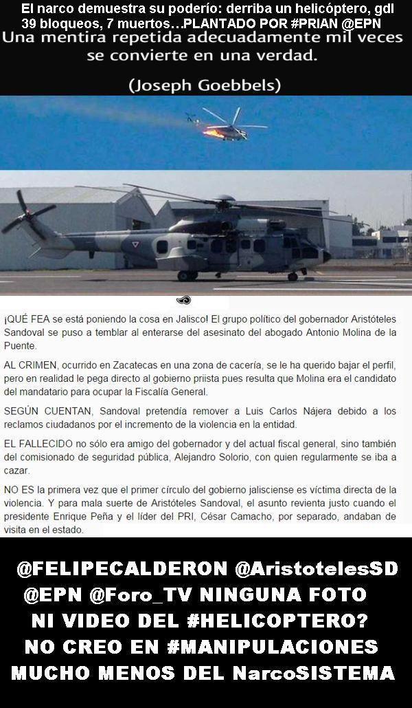 @AristotelesSD #SUPUESTO #HelicópteroPLANTADO @EPN pic.twitter.com/GWadeZKTsc arboles aguantaron el calor? el #ACERO NO? pic.twitter.com/Jlacy3MPgp