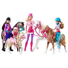 """In the new story, """"Barbie & Her Sisters in a Pony Tale,"""" #Barbie and her sisters head to the horse academy, where they have the opportunity to perfect their horseback-riding skills. This stable set allows girls to recreate these favorite moments from the film as well as play out imaginative equestrian stories. #BarbiesFavoriteThings"""