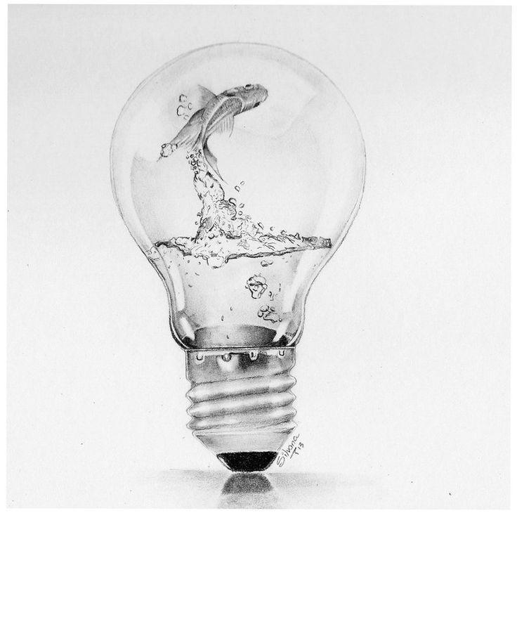 Image result for light bulb art drawing