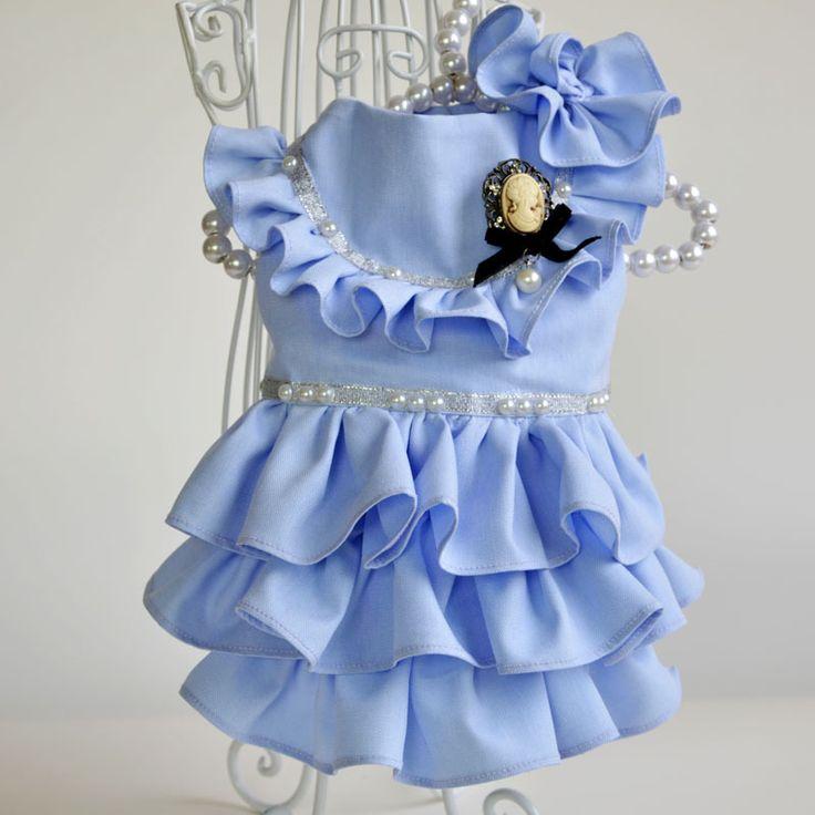Iipet vestido azul de lote misto de atacado de verão dog pet roupas roupas de pelúcia roupas pet - alishoppbrasil