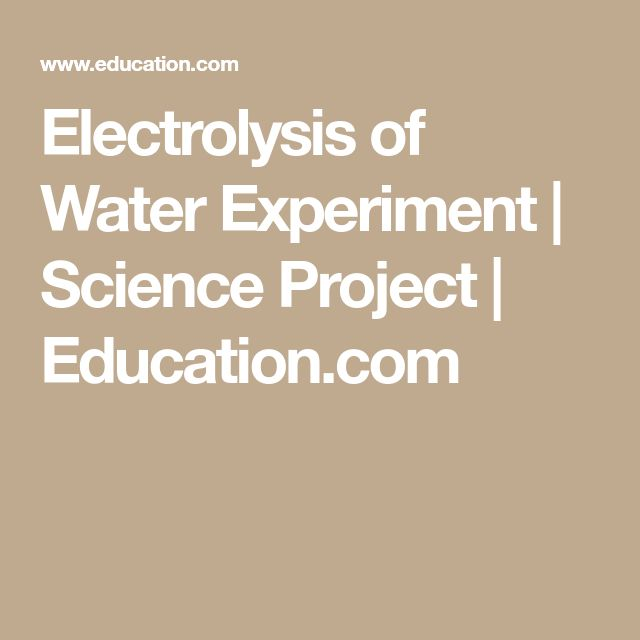 Electrolysis of Water Experiment | Science Project | Education.com