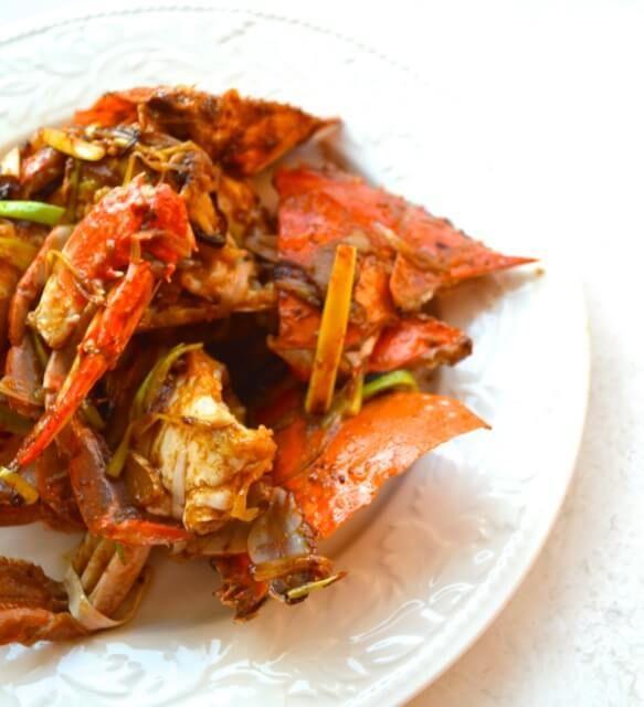 Cantonese Style Scallion Ginger Crab by thewoksoflife.com