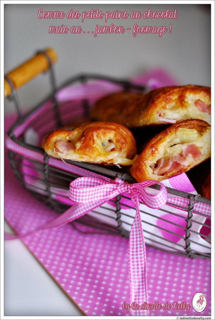 La Dinette de Nelly: Comme des pains au chocolat mais ... au jambon - fromage { Brunch time } !