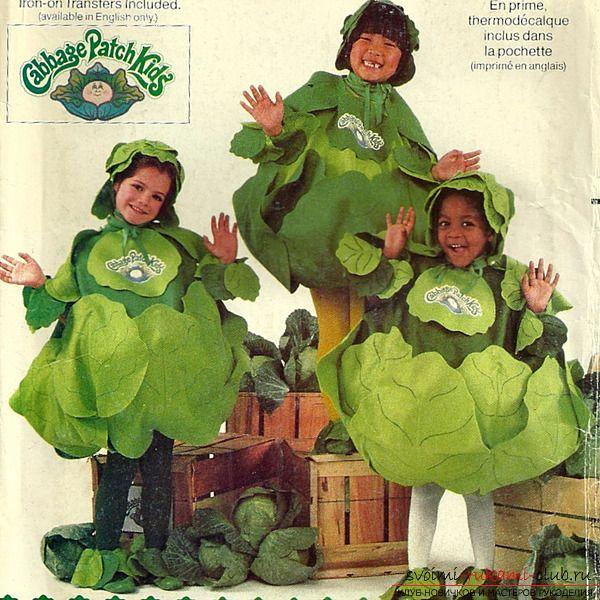 Симпатичный костюм капусты, как его сделать своими руками? Очень просто по нашим инструкциям и фото.