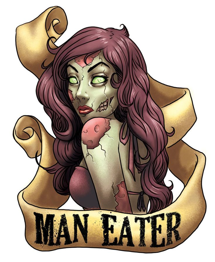 Zombie Pin Up Tattoo--not so much a fan of the artwork as I am of the words! lol