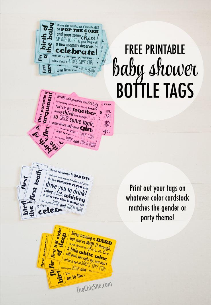 39 best free printables images on pinterest free printables free printable gift tags for a baby shower gift basket negle Images