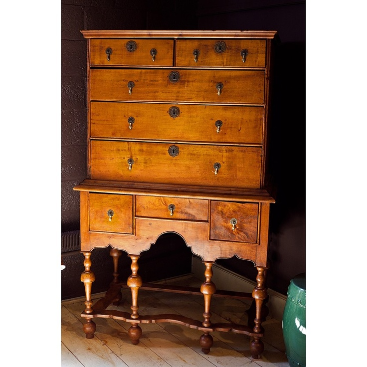 William and Mary highboy in Maple, from the century. - 164 Best William & Mary Images On Pinterest Antique Furniture