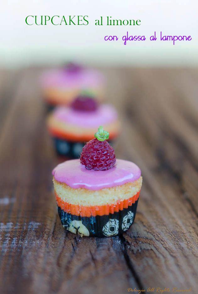 Dolcizie... le mie dolci delizie !: Cupcakes al limone con glassa al lampone e lime