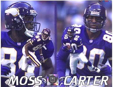 mn vikings photo gallery | Cris Carter & Randy Moss