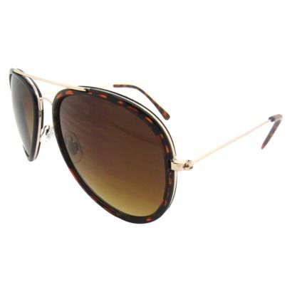 Women's Aviator Sunglasses - Tortoise
