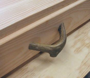 how to make drawer pulls from real antler sheds