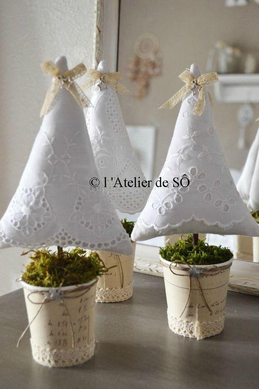 Alberi di natale di tessuto - sapins - Christmas tree