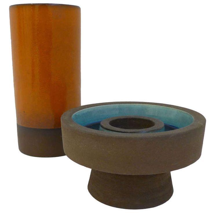 Two Knabstrup Ceramic Vessels