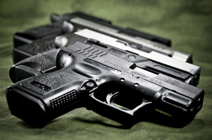 Full Of Weapons: Springfield XD subcompact, Sig Sauer P250, Springfield XD-M, Sig Sauer P226 Blackwater.