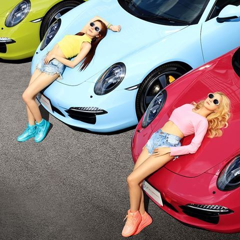 "991 Targa 4S Exclusive. ""Sibling Eye Candy"". Models @butterbuttytia @jam_ponybah for #focmag online edition"