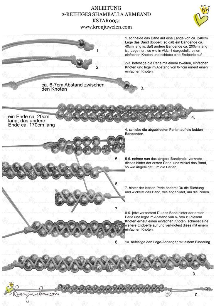 Anleitung Jessica Alba Shamballa Armband von kronjuwelen.com - Seite 2 von 3