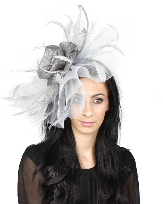 Mud Pie Old Gold Fascinator Hat for Weddings Races and