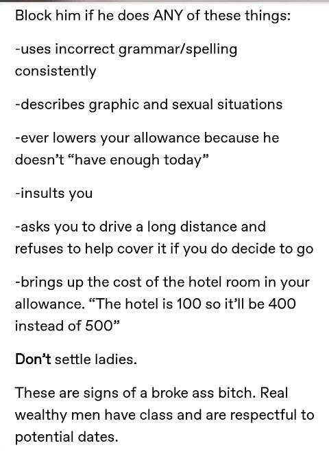 Sugar Baby Tips (cause im lowkey considering it when i