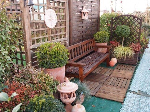 17 migliori idee su giardini da balcone piccoli su - Giardino in balcone ...